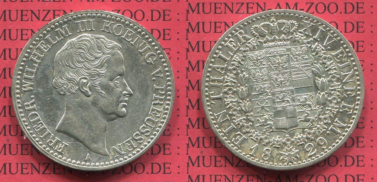 1 Taler Silbermünze 1829 Preußen Königreich Preußen Taler 1829 A