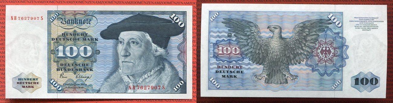 100 Dm Deutsche Mark 1980 Brd Deutsche Bundesbank Brd Deutsche