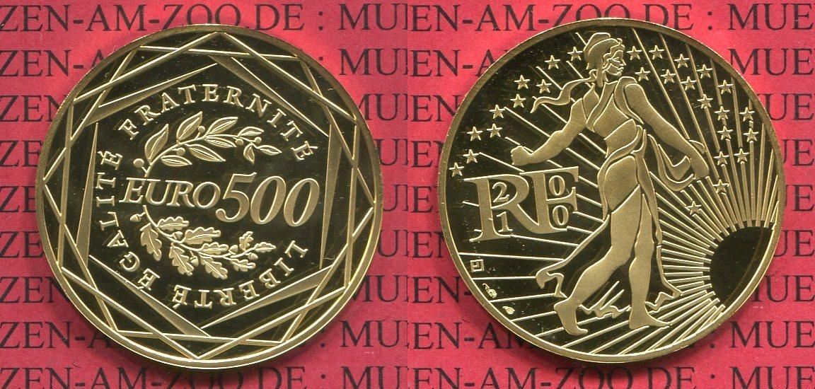 500 Euro Goldmünze Kursmünze 2010 Frankreich France Frankreich 500