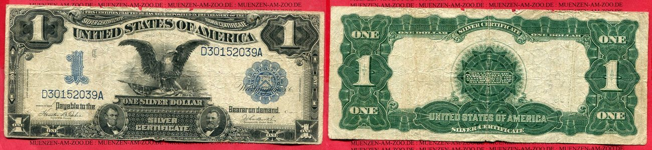1 Dollar Eagle Silver Certificate 1899 USA USA 1 Dollar Banknote ...
