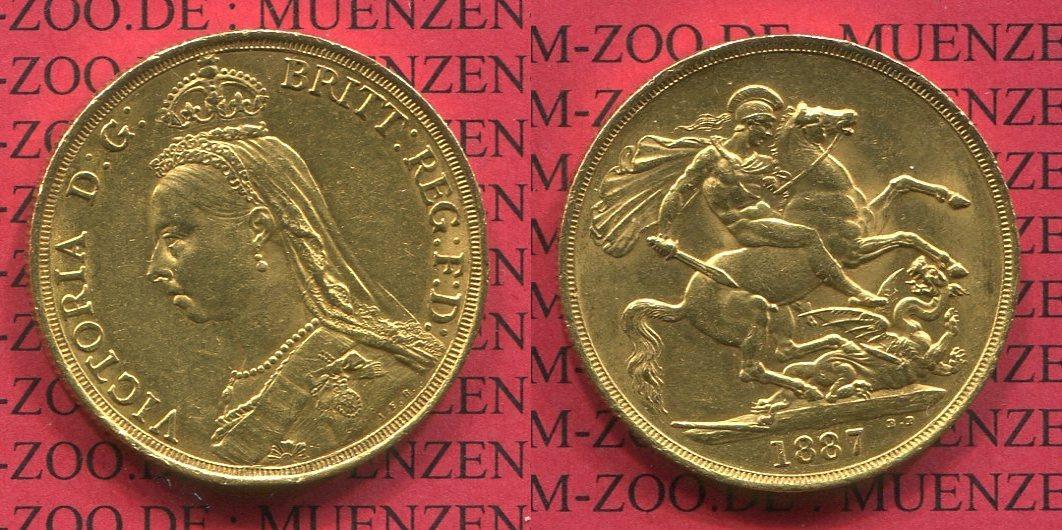 2 Sovereign 2 Pfund Goldmünze 2 Pounds 1872 Großbritannien England