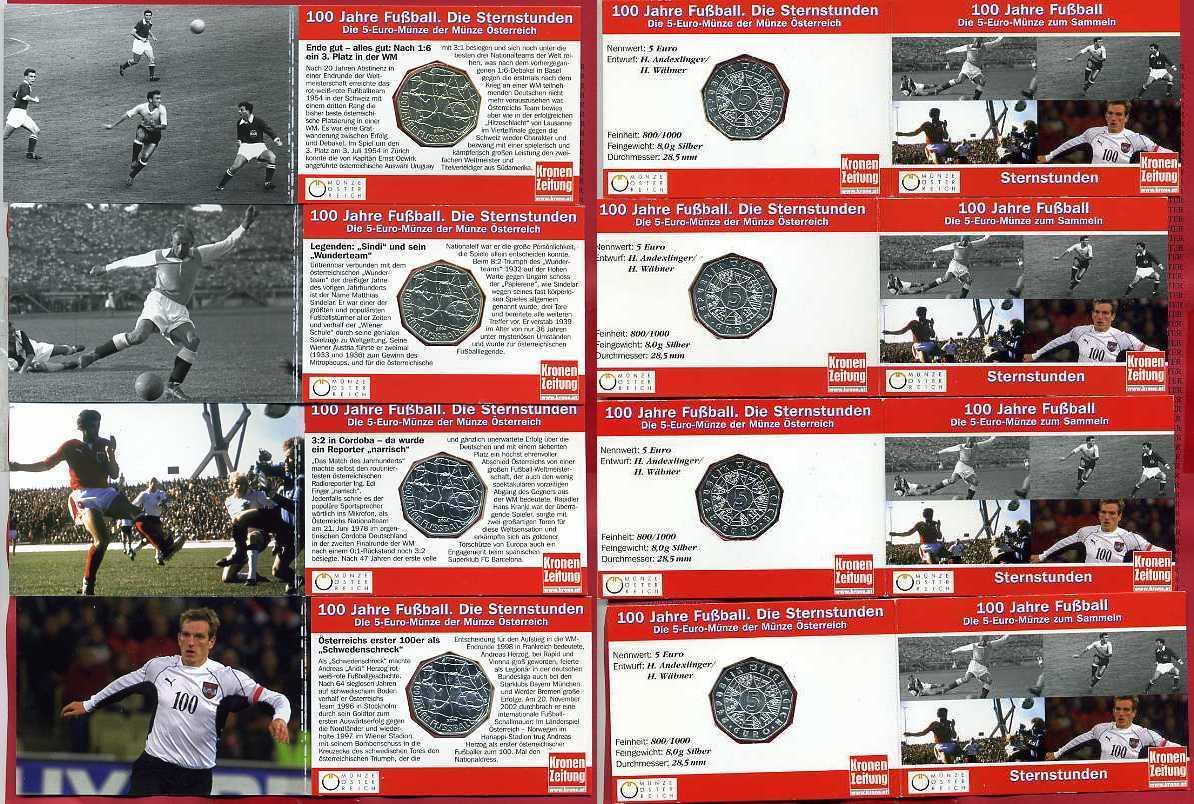 4 X 5 Euro Silber 2004 österreich österreich 4 X 5 Euro Silbermünzen