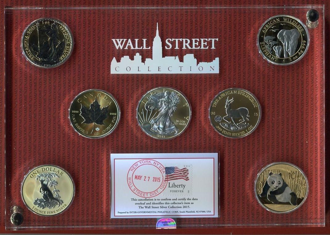 7 X 1 Unze Silber 2015 Usa Kanada China England Australien Etc