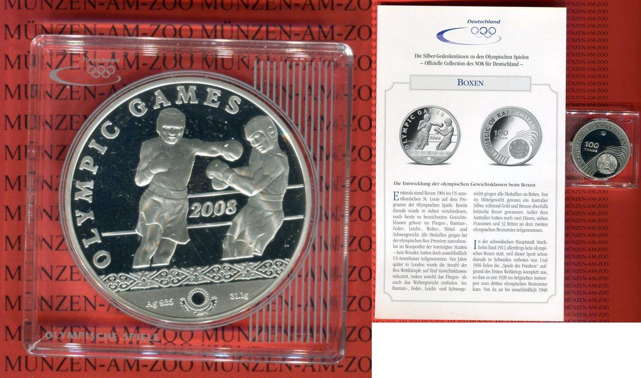 100 Tenge 2006 Kasachstan Olympische Spiele 2008 Boxen Pp In Kapsel
