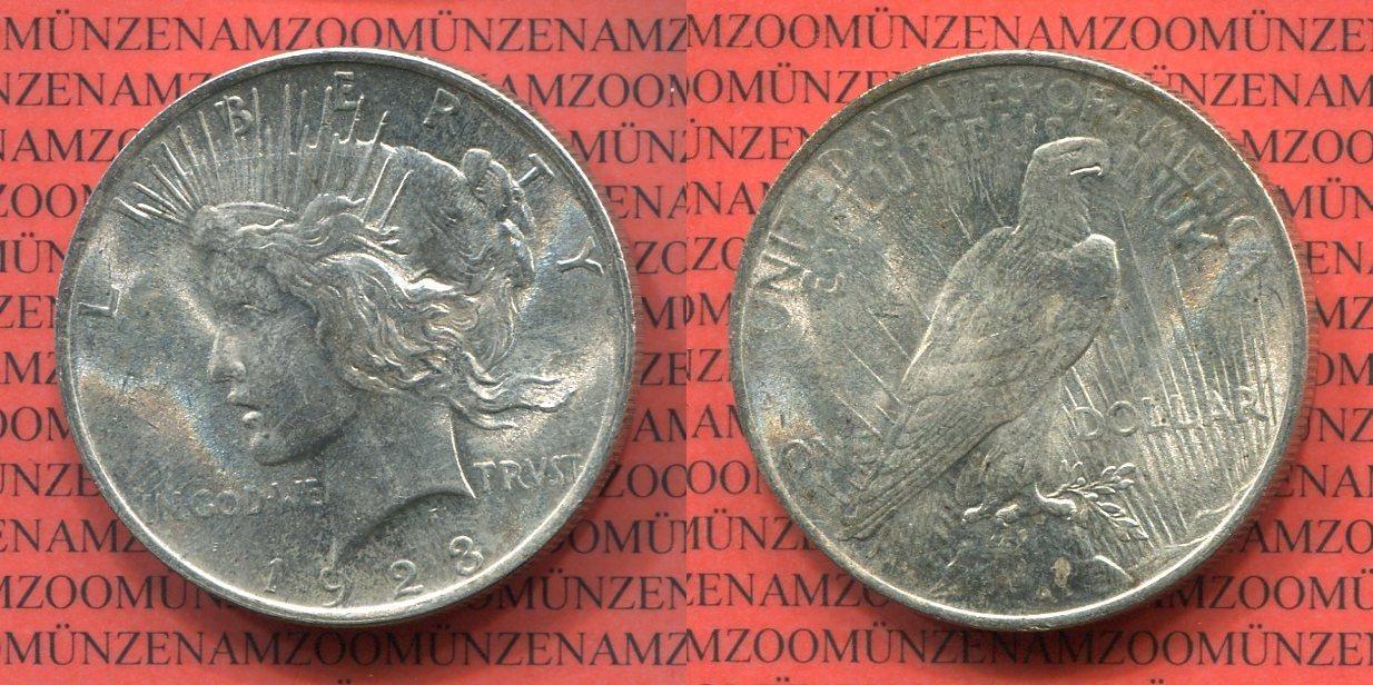 1 Dollar Silbermünze 1923 Usa Peace Typ