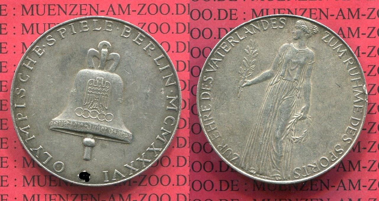 Medaille Olympische Spiele Berlin 1936 Berlin Medaille Olympische