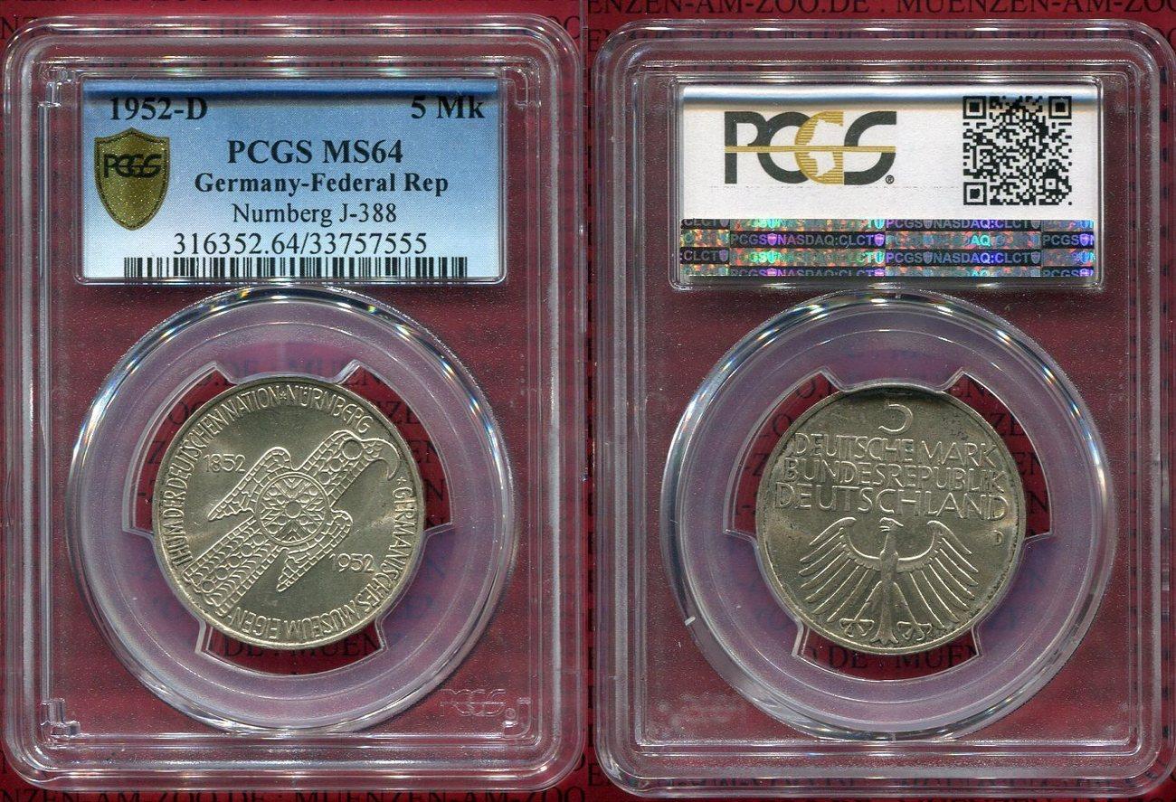 5 Dm Gedenkmünze Silber 1952 Bundesrepublik Deutschland Germany Frg