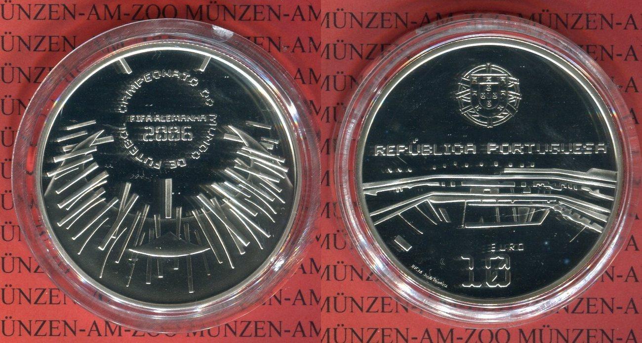 10 Euro Silbermünze 2006 Portugal Fifa Fußball Weltmeisterschaft