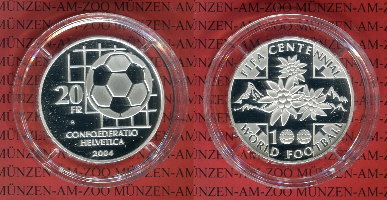 20 Franken Silbermünze 2004 Schweiz 20 Franken Silbermünze 100 Jahre