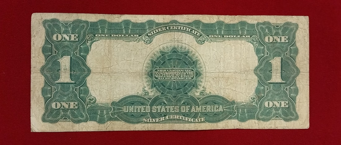 1 Silver Dollar 1899 USA Large Banknote Silver Certificate Eagle ...