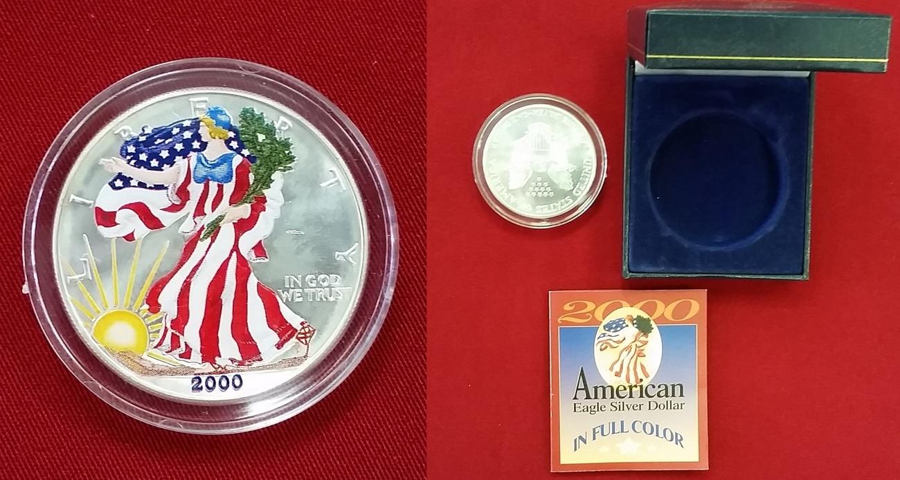 1 Dollar Silbermünze 2000 Usa Aufwendig Verzierte Münze Stgl Mit