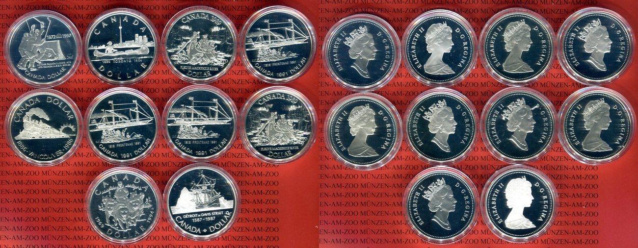 10 1 Kanadischer Dollar Diverse Kanada Lot Von 10 Kanadischen 1
