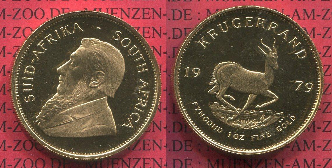1 Unze Krügerrand Gold 1979 Südafrika, South Afrika South Africa Krügerrand