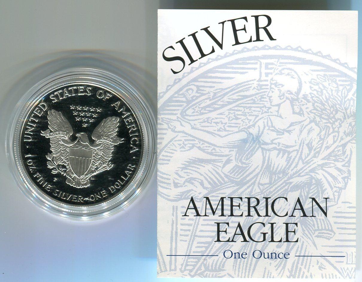 1 Dollar, Silbermünze 1999 Usa 1 Dollar Silver Eagle