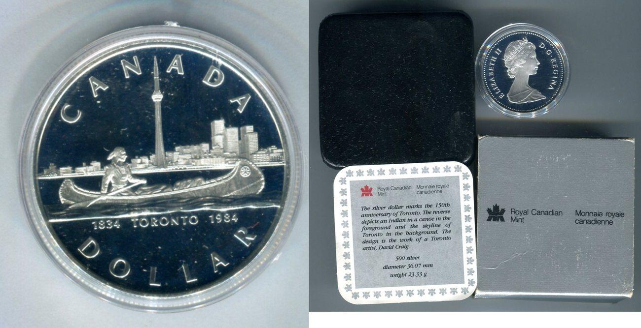 1 Dollar Silbermünze 1984 Kanada Dollar, Queen Elisabeth