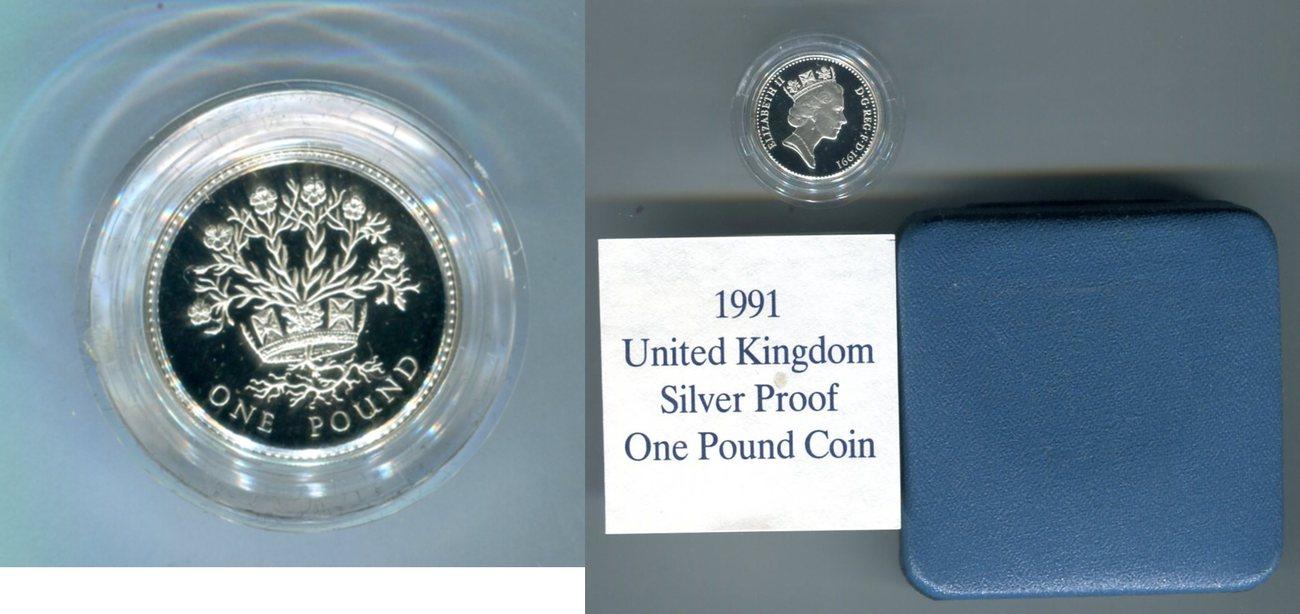 1 Pound 1991 Großbritannien Unite Kingdom One Pound Coin Pp In