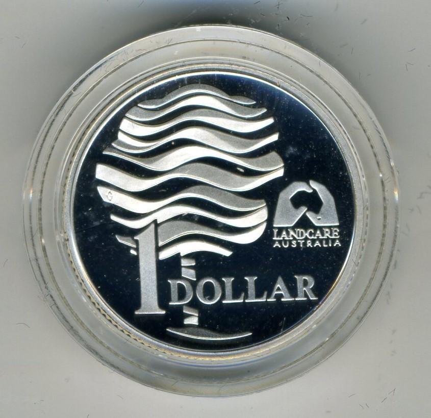 1 Dollar, Silbermünze Australien 1 Dollar Silbermünze Pp 1993 Landcare