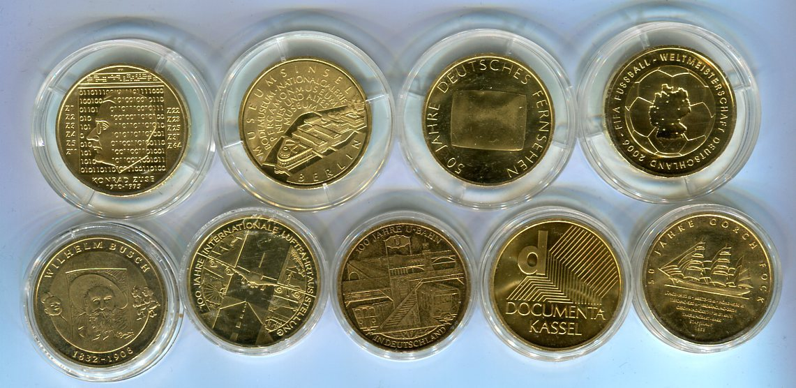 9 X 10 Euro Silber Versch Jahre Deutschland Lot Von 9 Münzen Mit