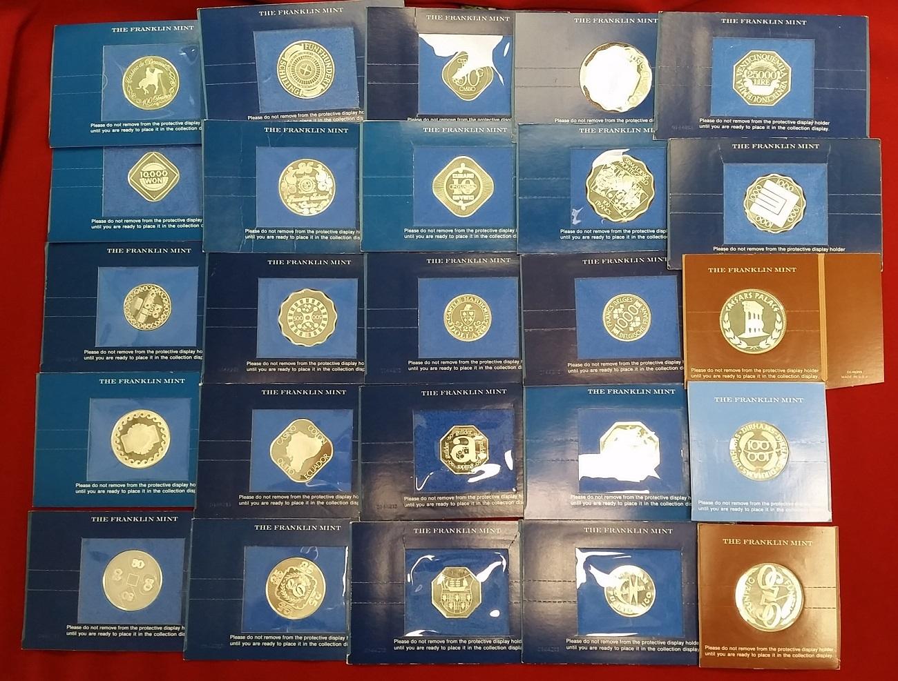 25 Stück Casino Token Ohne Jahr Usa The Franklin Mint Verschiedene