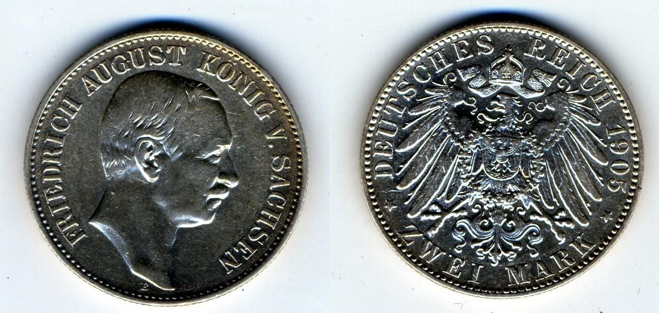 2 Mark 1905 E Sachsen Friedrich August König V Sachsen Ss Ma Shops