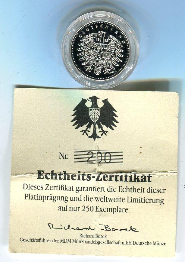 Platin Medaille 1994 Deutschland Bundespräsident Richard Von