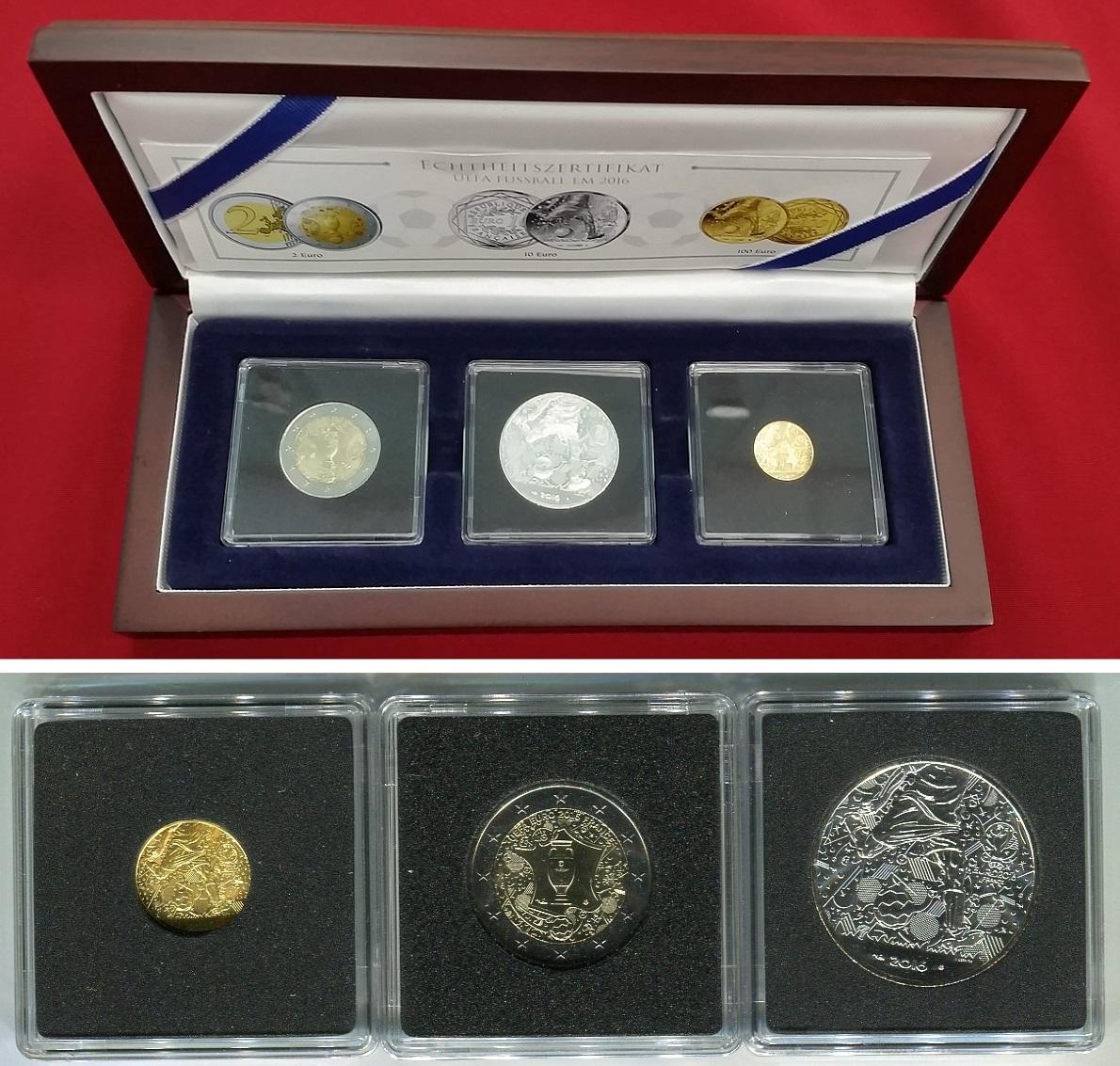100 Euro Goldmünze 10 Silbermünze 2 Münze 2016 Frankreich
