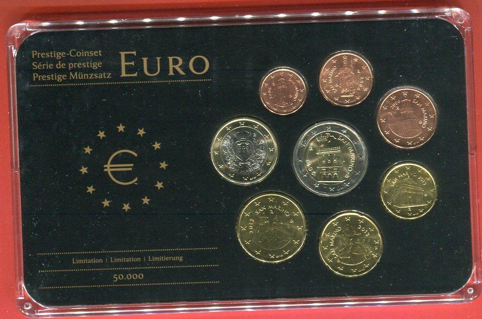 KMS 1 Cent - 2 Euro 2006/2013 San Marino Kursmünzensatz verschiedene ...