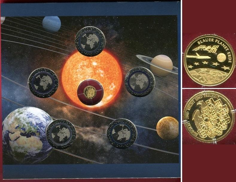 5 X 5 Euro Münzen Plus Goldmedaille 2016 Bundesrepublik Deutschland