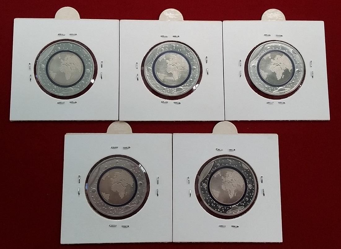 5 X 5 Euro Münzen Komplett 2016 Bundesrepublik Deutschland Blauer