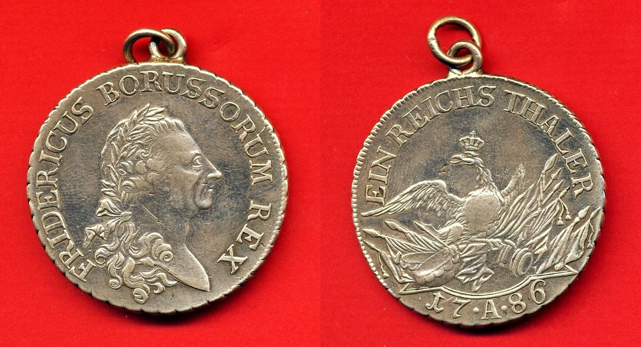 Ein Reichs Thaler 1786 A Brandenburg Preussen Preussen Thaler