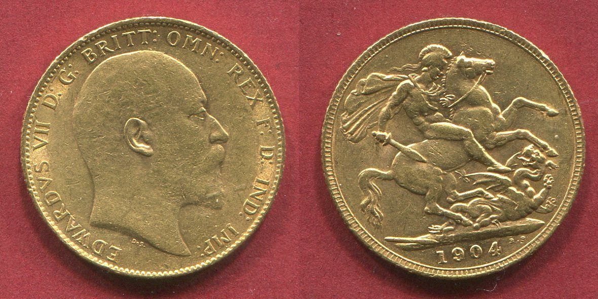 Sovereign 1 Pfund Goldmünze 1905 England Great Britain Uk Goldmünze