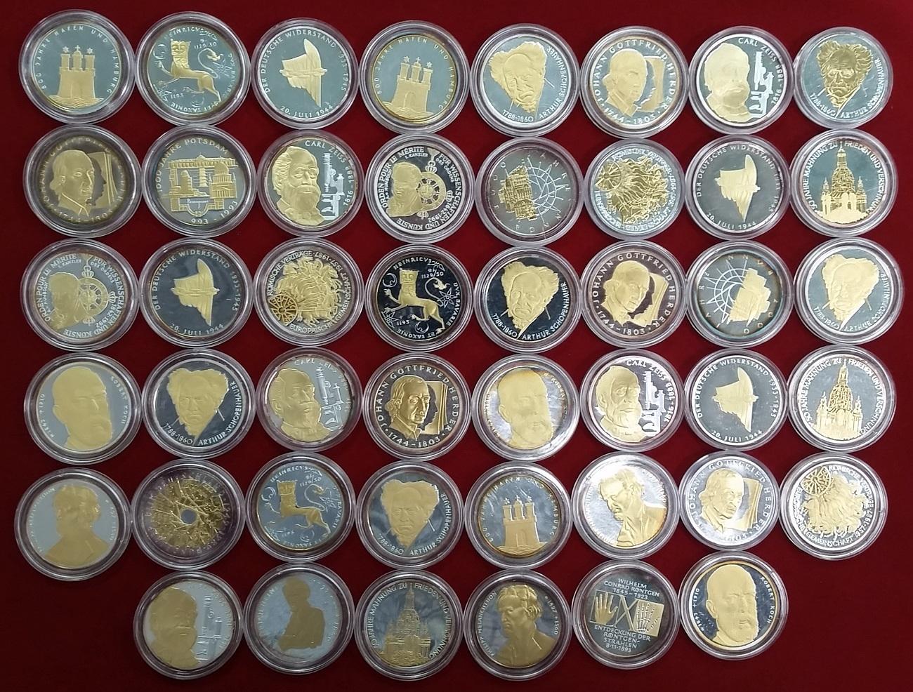 46 X 10 Mark Silbermünzen Versch Jahre Deutschland Lot Von 46
