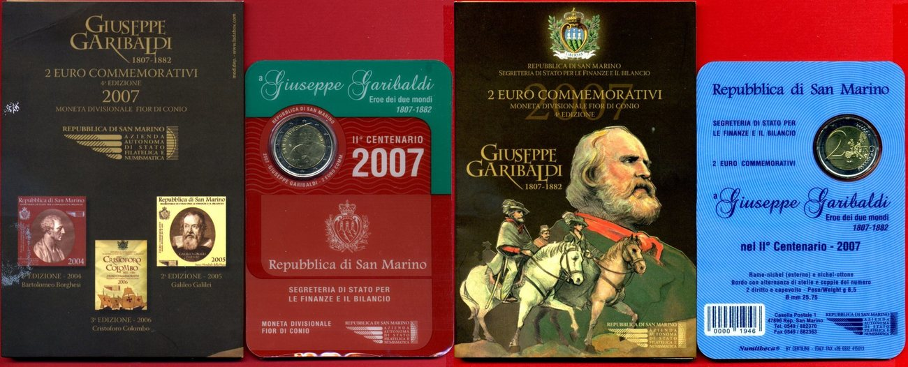 2 euro gedenkm nze 2007 san marino 200 geburtstag giuseppe garibaldi stgl ovp ma shops. Black Bedroom Furniture Sets. Home Design Ideas