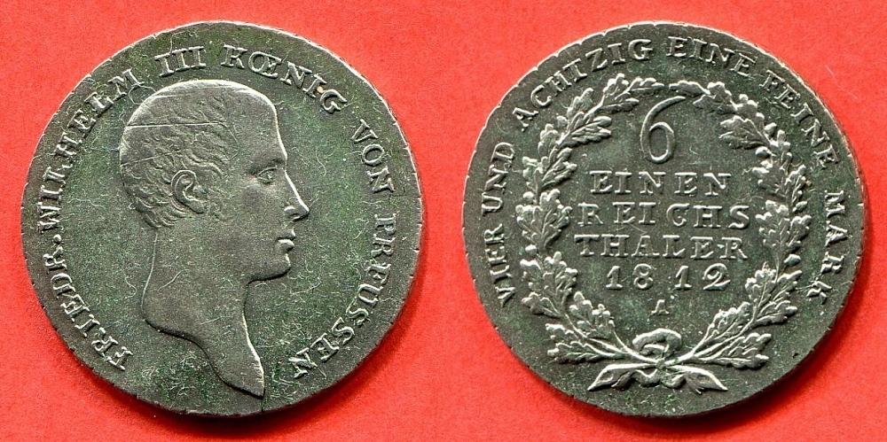 16 Thaler 1812 A Brandenburg Preussen Friedrich Wilhelm Iii 1797