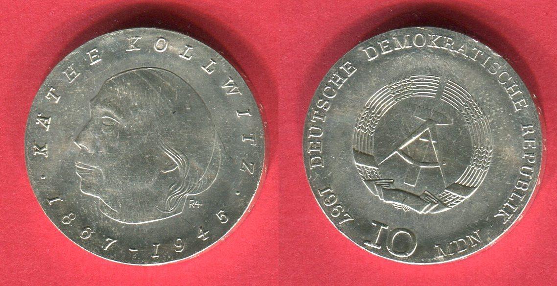 10 Mark Probeprägung Silbergedenkmünze 1967 Ddr Probe Gedenkmünze