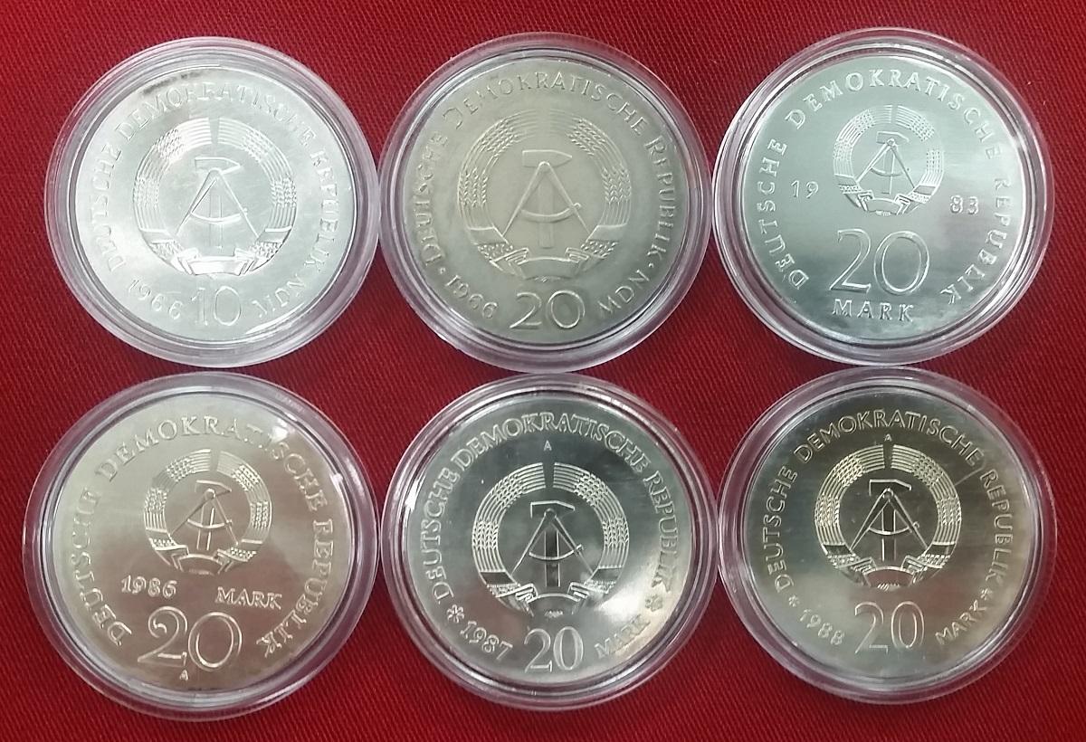 Komplettsammlung 123 Münzen 1966 90 Ddr Gdr Eastern Germany Ddr