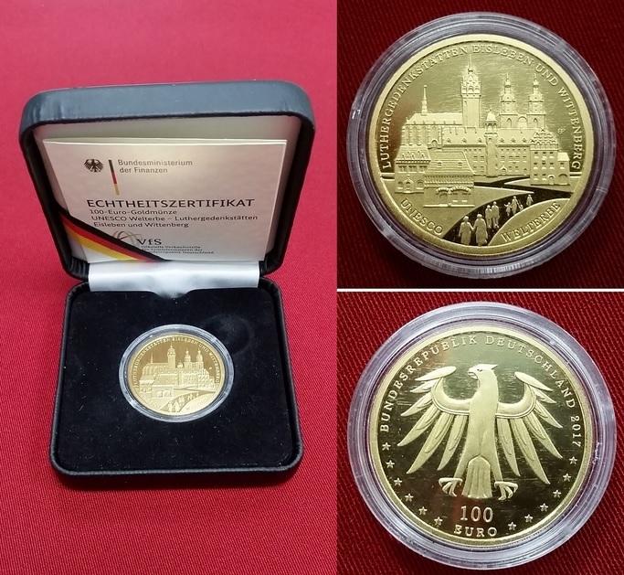 100 Euro Goldmünze 2017 A Brd Bundesrepublik Deutschland Unesco