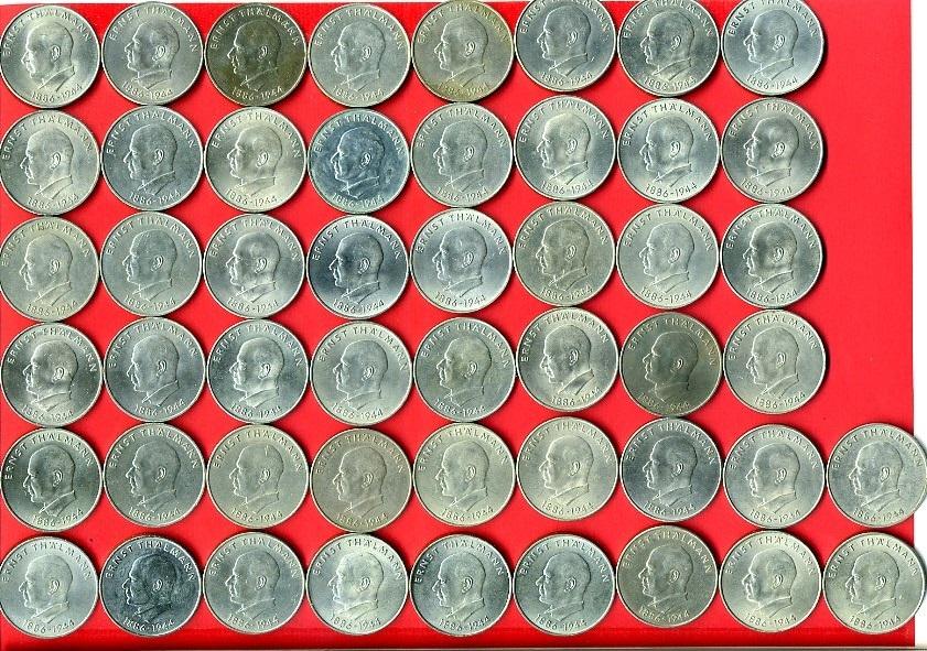 50 X 20 Mark Lot 1971 Ddr Gedenkmünzenlot Zum 85 Geburtstag Von