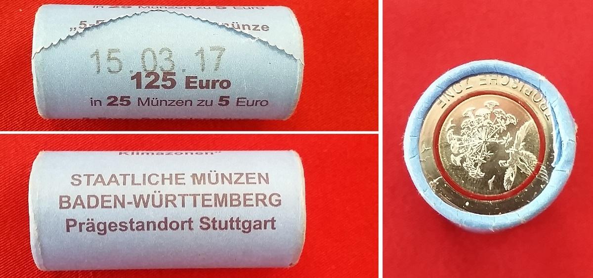 125 Euro 2017 F Bundesrepublik Deutschland Tropische Zone 25 X 5