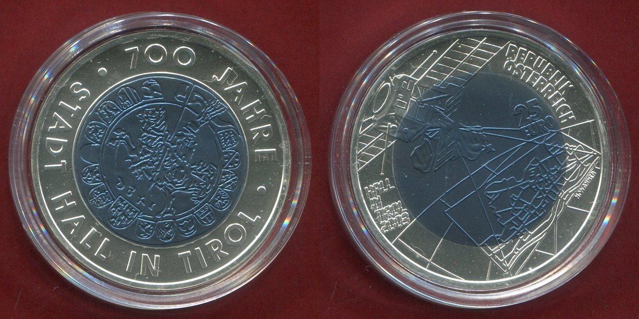 25 Euro Niob 2003 österreich Austria 700 Jahre Stadt Hall In Tirol