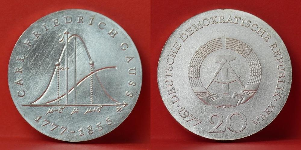 20 Mark Gedenkmuenze 1977 Deutsche Demokratische Republik Ddr 200