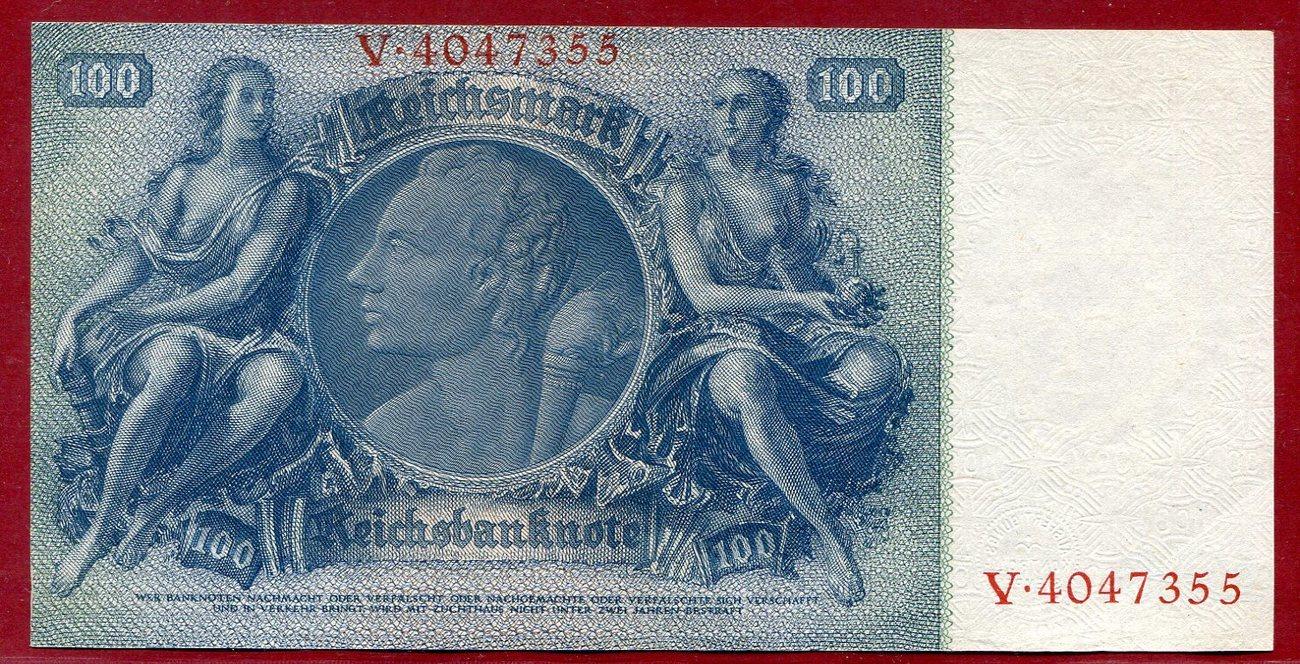100 mark reichsbanknote 24 juni 1935 deutschland 1933 1945 liebig unterdruck b serie v. Black Bedroom Furniture Sets. Home Design Ideas