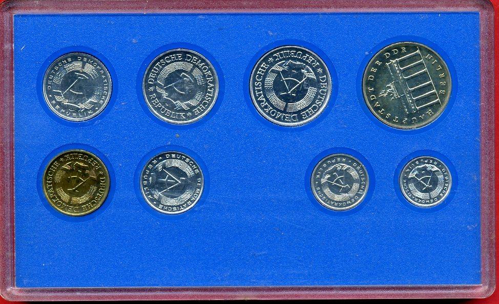 Kms 886 Mark Inkl 5 Mark Münze 1984 Ddr Kursmünzensatz Mit 5 Mark