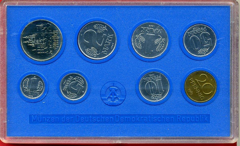 Kms 886 Mark Inkl 5 Mark Münze 1983 Ddr Kursmünzensatz Mit 5 Mark