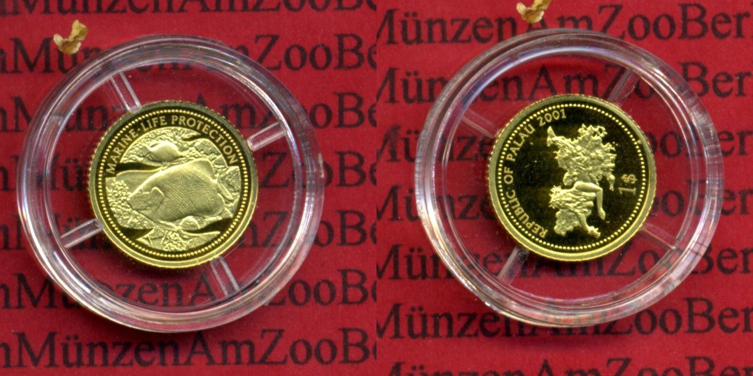 1 Dollar Goldmünze 125 Unze 2001 Palau Palau 1 Dollar Goldmünze