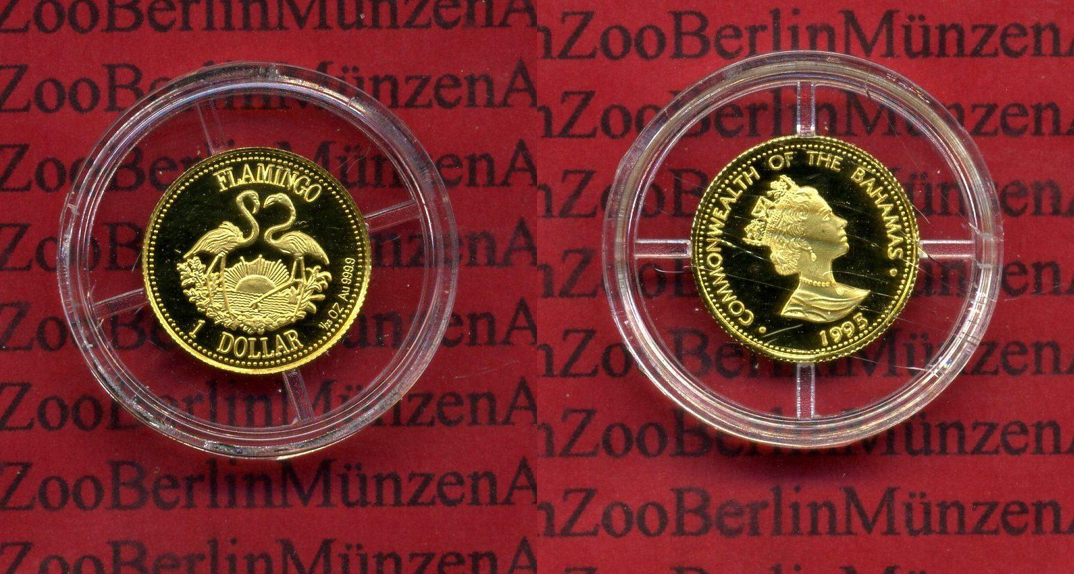 1 Dollar Goldmünze 125 Unze 1995 Bahamas Bahamas 1 Dollar 125