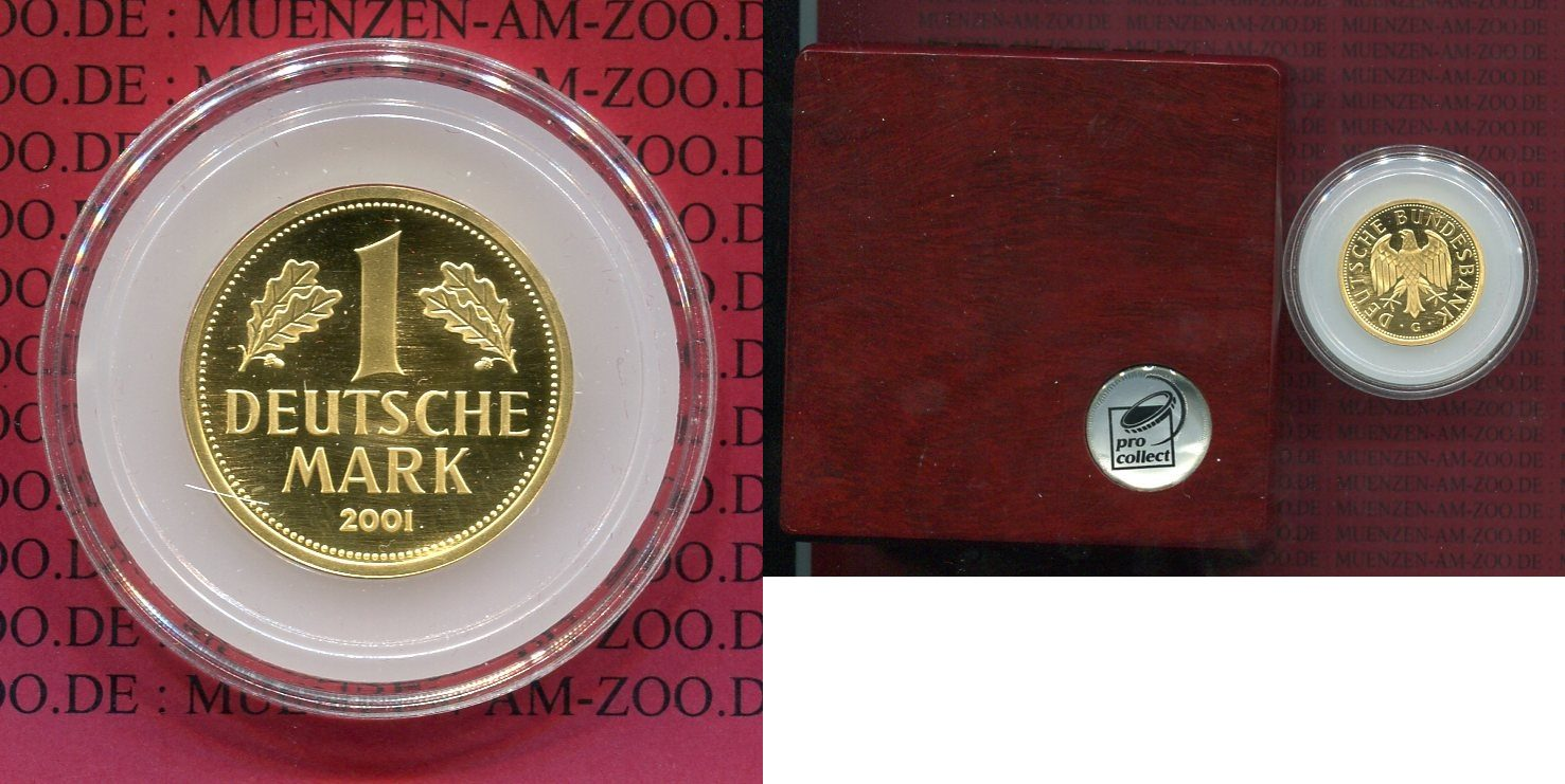 1 dm gold mark 2001 g bundesrepublik deutschland. Black Bedroom Furniture Sets. Home Design Ideas