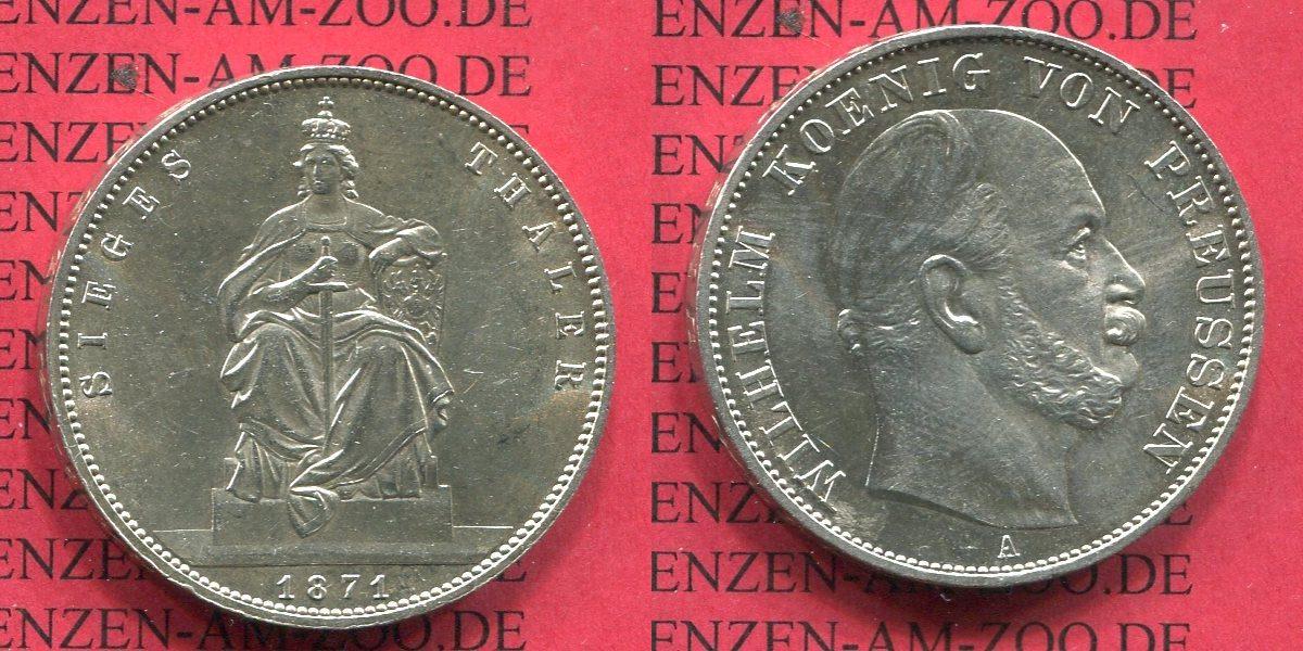 1 Taler Silber 1871 Preußen Preußen Siegestaler 1871 Sieg über