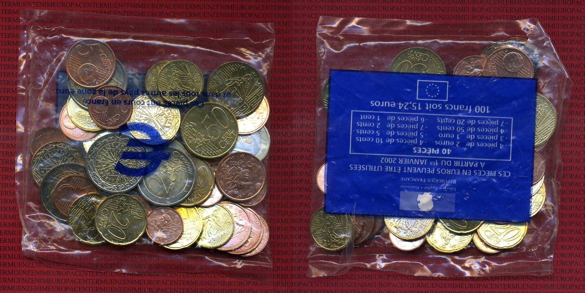 15,24 Euro Nominalwert 1999-2001 Frankreich Starterkit Ovp