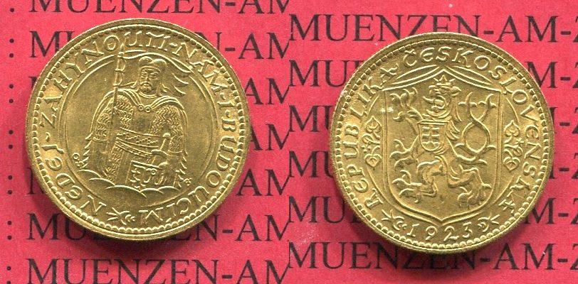 1 Dukat Goldmünze 1923 Tschechoslowakei Tschechoslowakei 1 Dukat